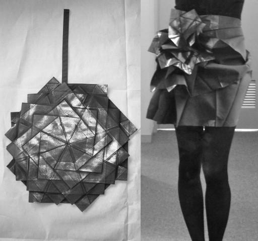 OrigamiSkirtB&W