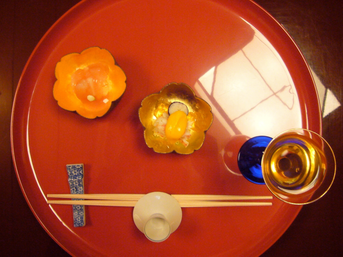 The first course of kaiseki at Hamada-ya