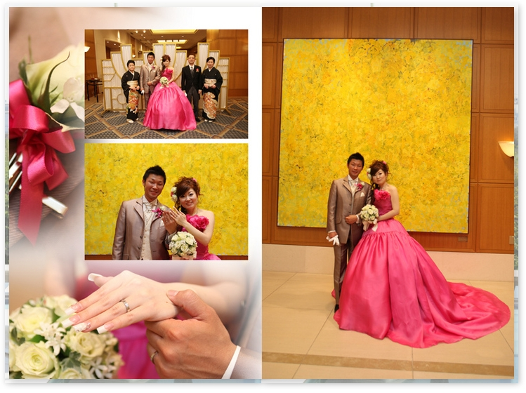 Princess gown dream comes true! A wedding picture from the albumcafe.jp website.