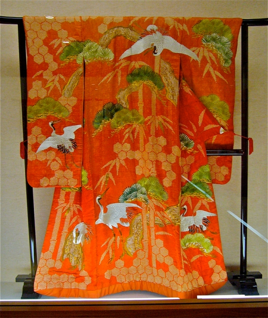 Among them is an Edo-era kimono, embroidered and dyed with ancient techniques.