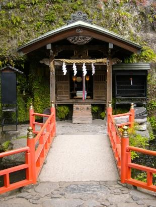 ...to the Zeniarai Benten Shrine in Kamakura, where visitors can leave eggs for the snake goddess Benten.