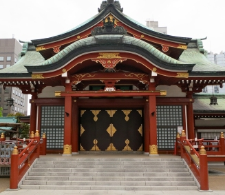 ...as well as the Suitengu Shrine, famous for helping pregnant women.