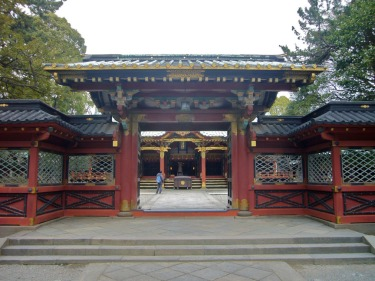 This is the entrance to the courtyard of the Nezu shrine. The main sanctuary building is beyond.