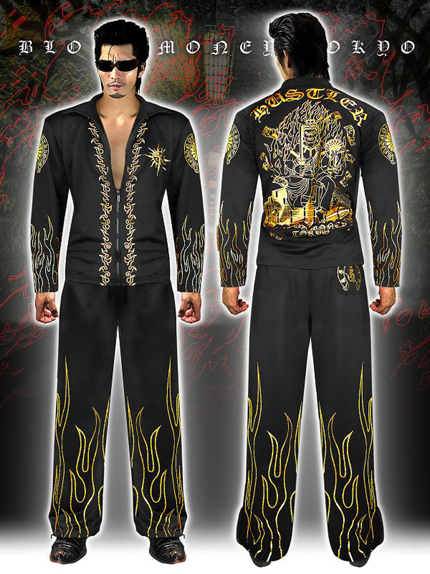 In case those dopes out on the street are a little unclear on the concept, this track suit of ultimate suaveness spells it out for them: you are one monster-frackin' hunk of burnin' hustler.