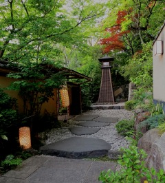 The entrance to the Tofu-ya Ukai restaurant begins to prepare you for...