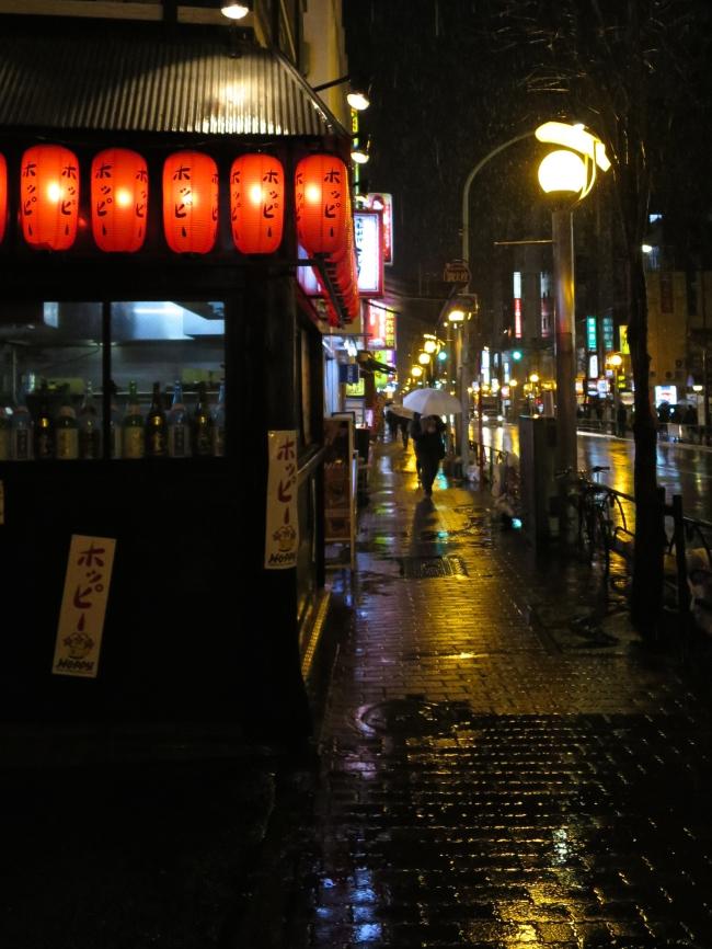 Lanterns outside a Shin Okubo restaurant