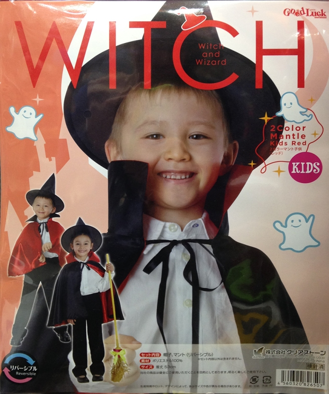 And in the scar-your-children-for-life department, get this attractive reversible witch costume for your son. Maybe he'll grow up to be...