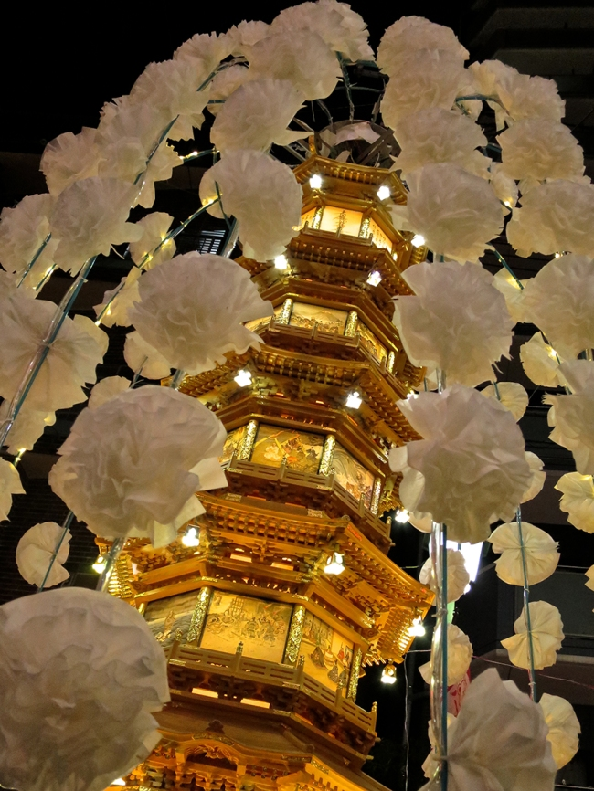 Every lantern was different. This one was fantastically decorated in gold.