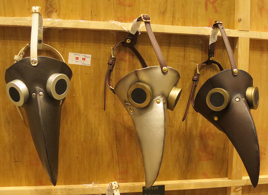 Steampunk bird masks (in case you don't already have a dozen in every color.)