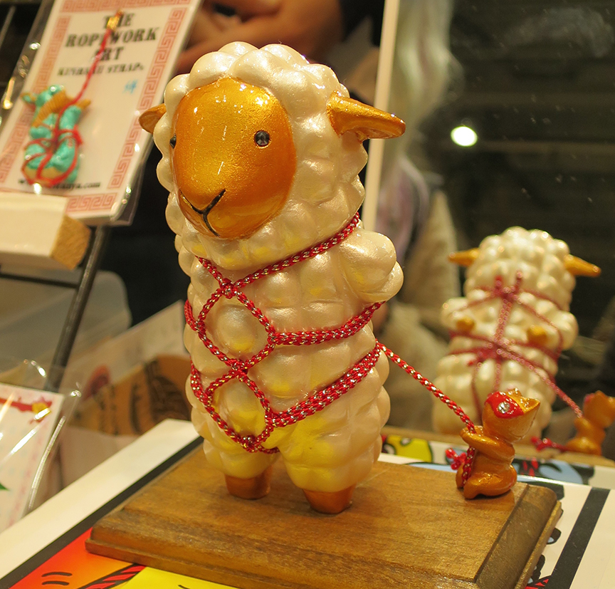 Decidedly non-traditional New Year's figures for the upcoming Year Of The Sheep.