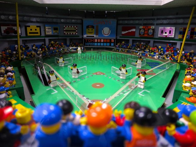 Baseball pinball game made of Legos? Win.