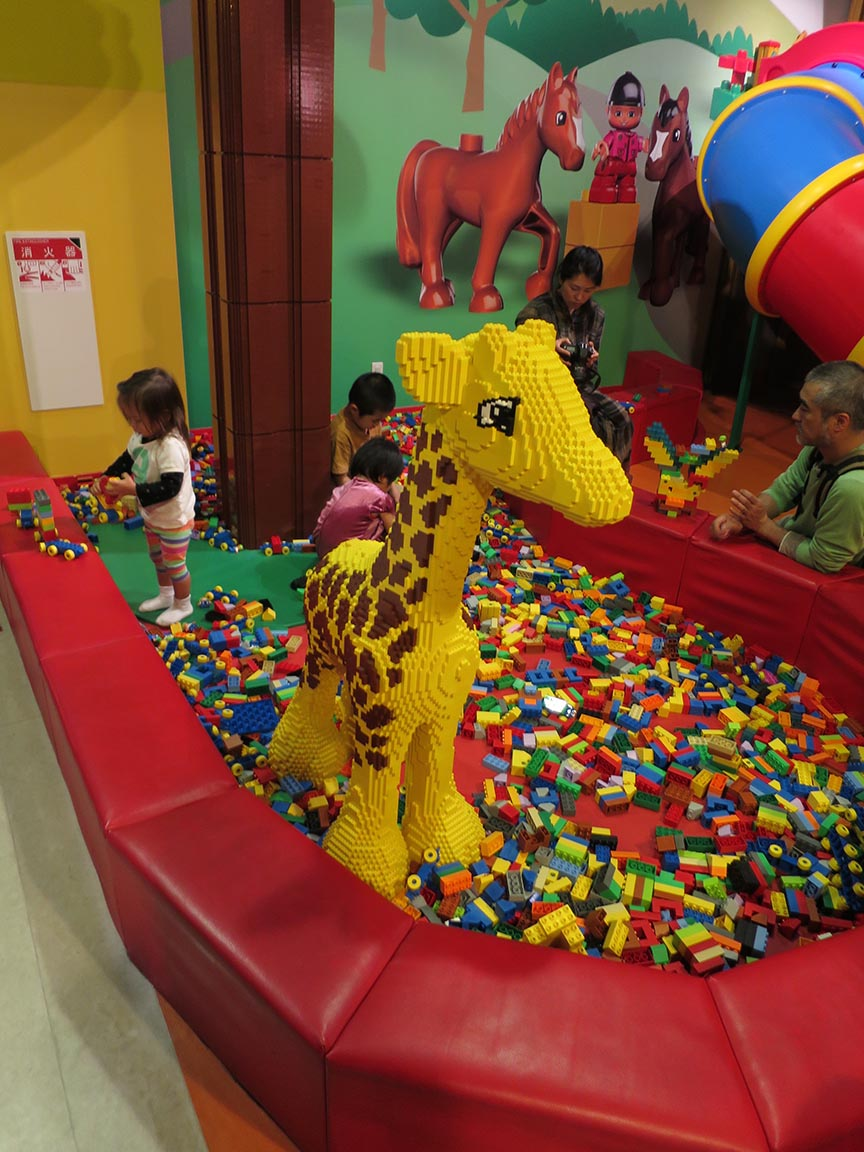 Of course, there's also a massive indoor playground with slides, ball pits and various age-group Lego construction paradises, and a café.