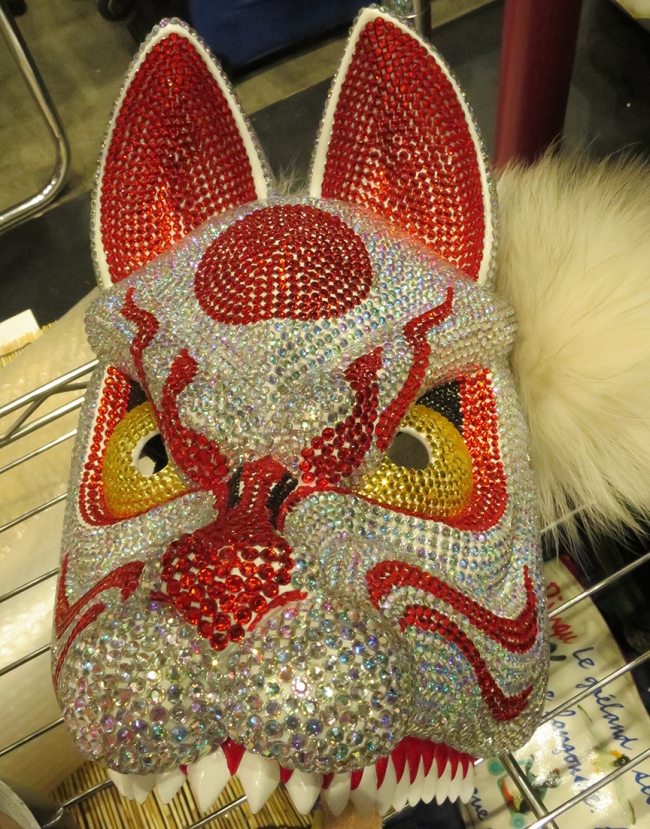And don't leave home without THIS. Because RHINESTONE-ENCRUSTED FOX MASK. @omen_kashimaya