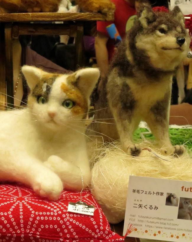 Don't wait until it's time to send your dear departed pet to the taxidermist to get it stuffed - now you can enjoy a 3-D portrait of your beloved Fifi sculpted in felt! Futaya Kurumi