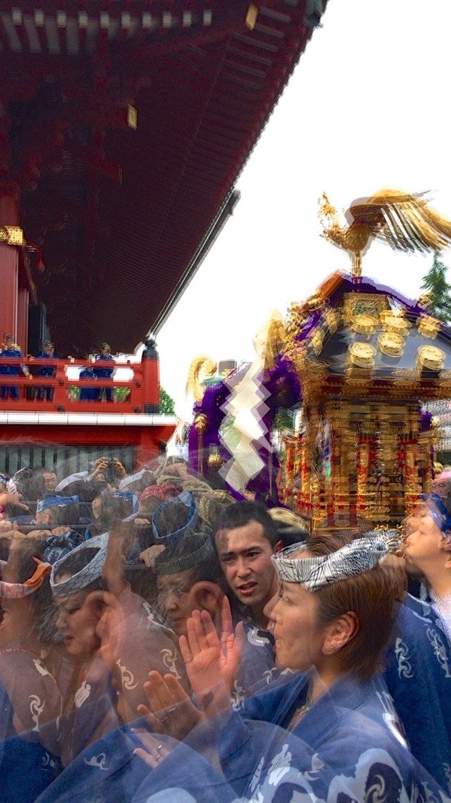 It doesn't look like hard work from the sidelines, but each o-mikoshi can weigh up to a ton, and teams need to switch out carriers several times over the course of the parade.