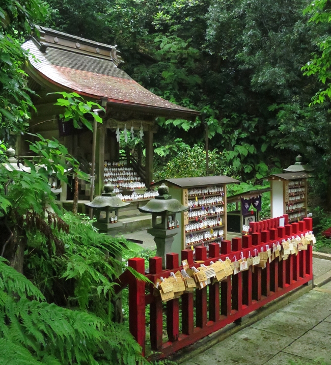 Inari shrines are everywhere in Japan – foxes are believed to be the wily messengers of the gods, and not immune to a little bribe to get one's personal agenda heard by the powers-that-be...
