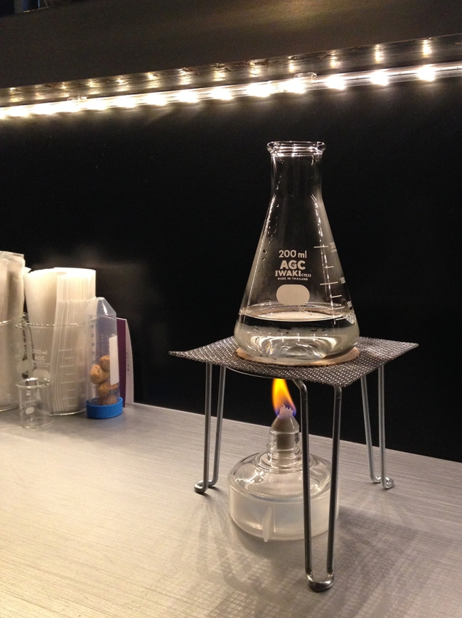 Your chosen of saké comes with its own Bunsen burner, so you can warm it to the ideal temperature.