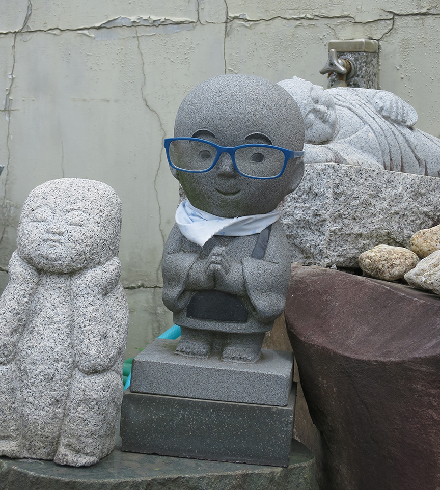 Finally, a Jizo-sama to protect kids who can't see a baseball coming.