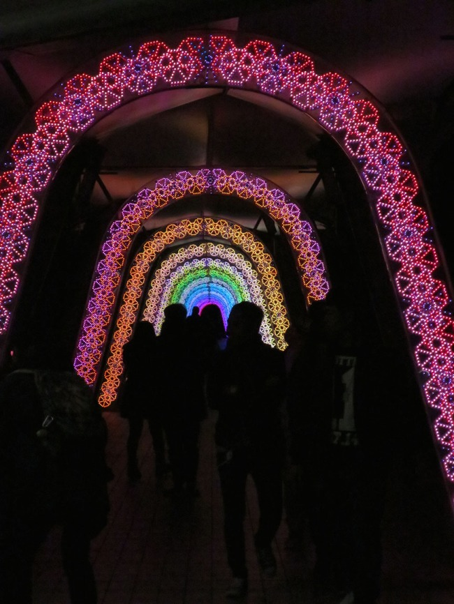 And don't forget to walk through the Wonka-esque rainbow tunnel of luv