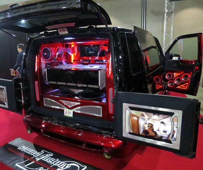 And this ultimate tailgate wagon added monster subwoofers and video, so you wouldn't even have to leave the parking lot to catch the game.