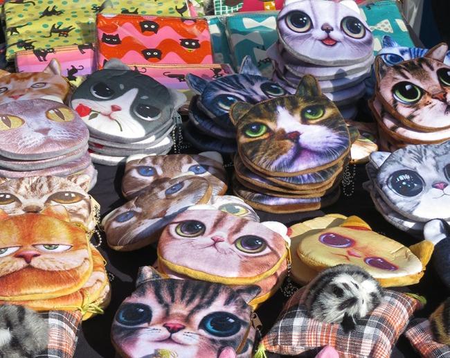Soulful cat purses