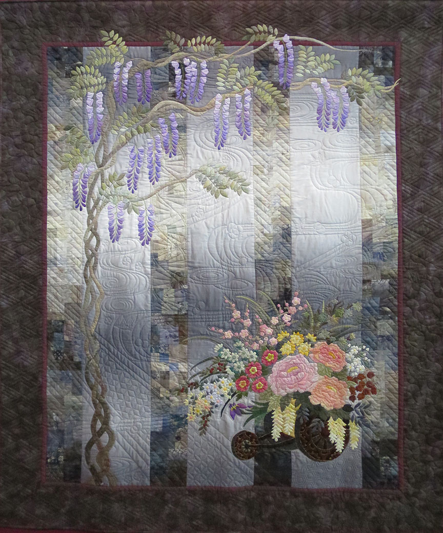 This one takes the J-theme all the way, even using quilting patterns that are traditional washi paper and kimono motifs.