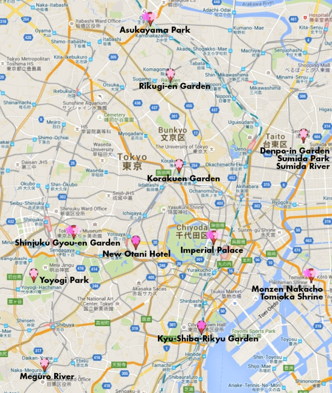 The Best Cherry Blossom Spots In Tokyo – With Maps! | Jonelle ...