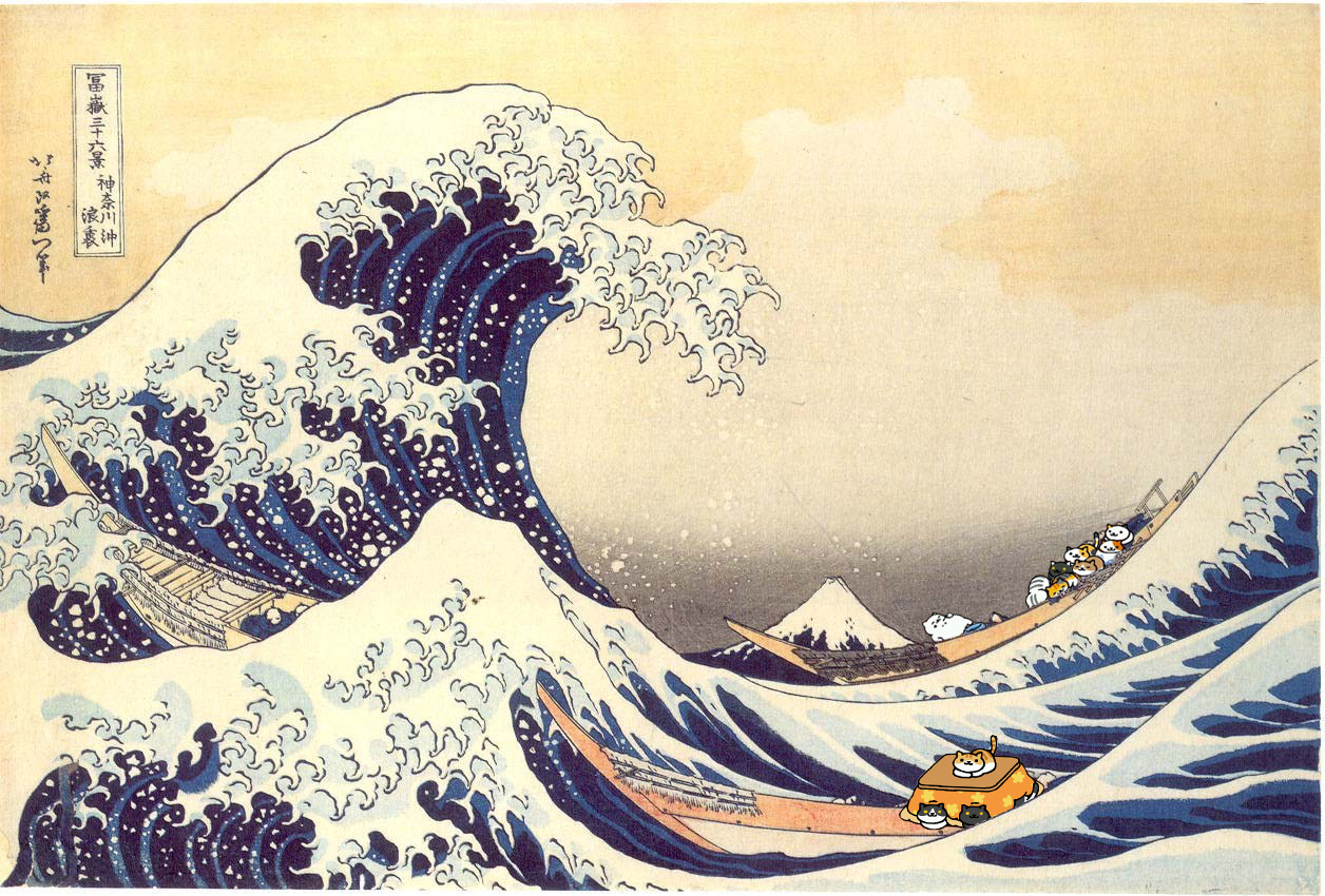 """Hokusai could have done a """"36 Views Of Neko"""" series that would have WAY outsold that Fuji shinola"""