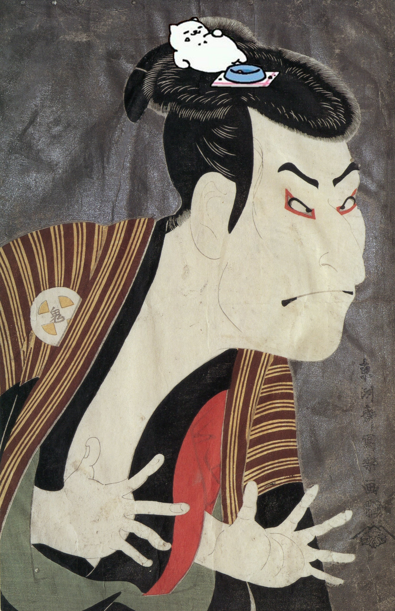 Think how much MORE famous the kabuki actor Otani Oniji III would have been if assisted by Tubbs