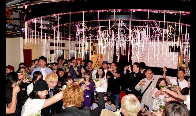 Coed party at a Japanese host club
