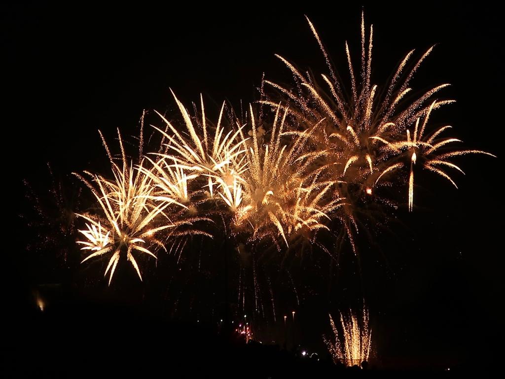 Summer fireworks in Kita-senju