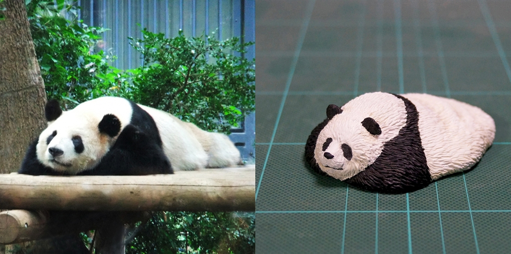 @Meetissai sculpture of sleeping panda
