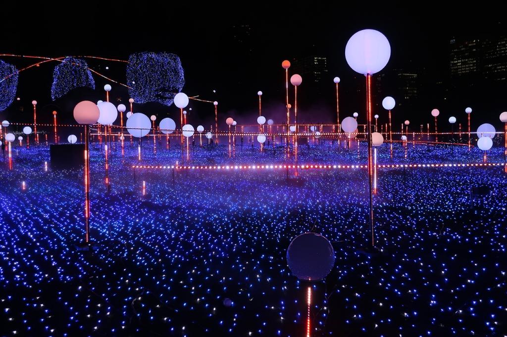 Tokyo Midtown winter illuminations Skylight Garden
