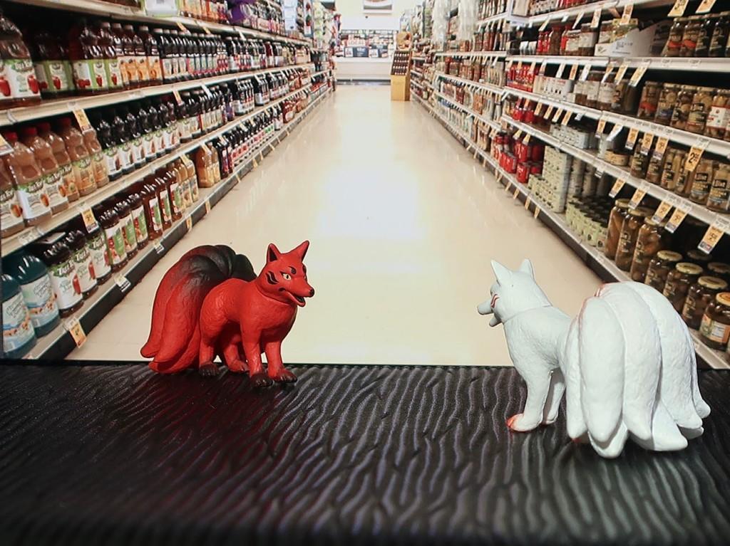 Nine-tail fox Japanese gachapon toys