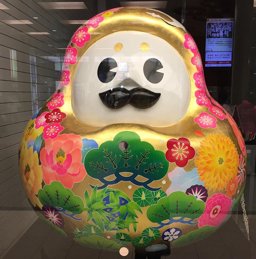 Daruma figure mascot of Kanazawa city