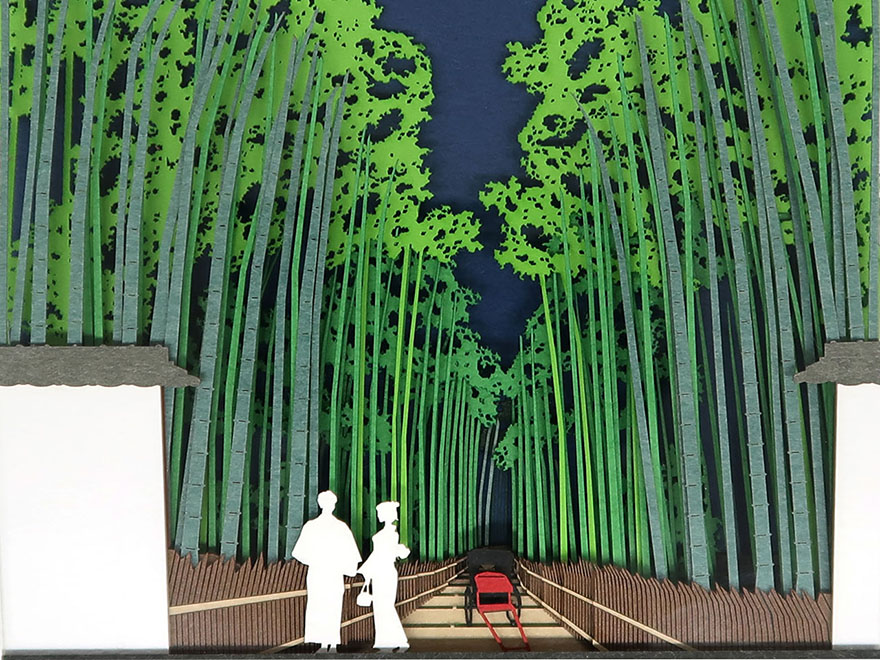 Notepad from Omoshiroi online store that reveals Arashiyama bamboo grove as it's used