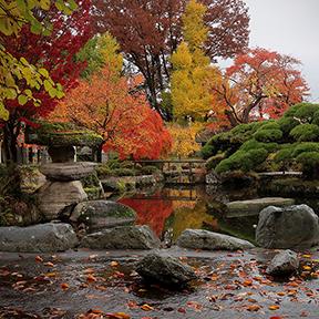 Takashima castle garden in Suwa City