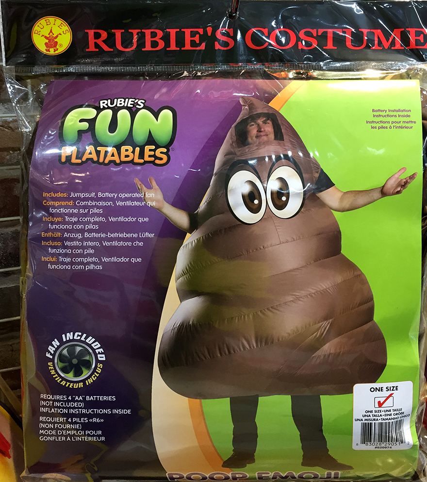 Inflatable poop emoji Halloween costume