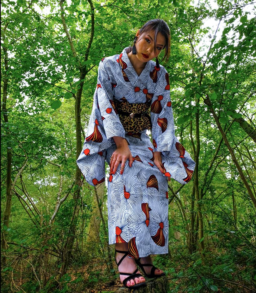 Uber Dandy Kimono Nkechi kimono ensemble