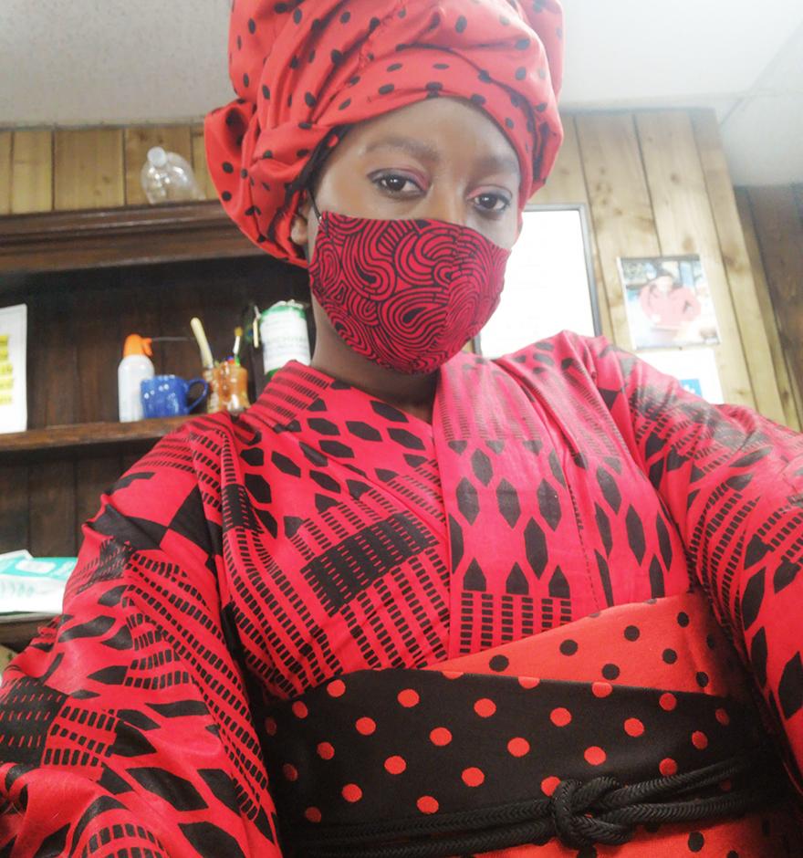Tia Oguri of Uber Dandy Kimono