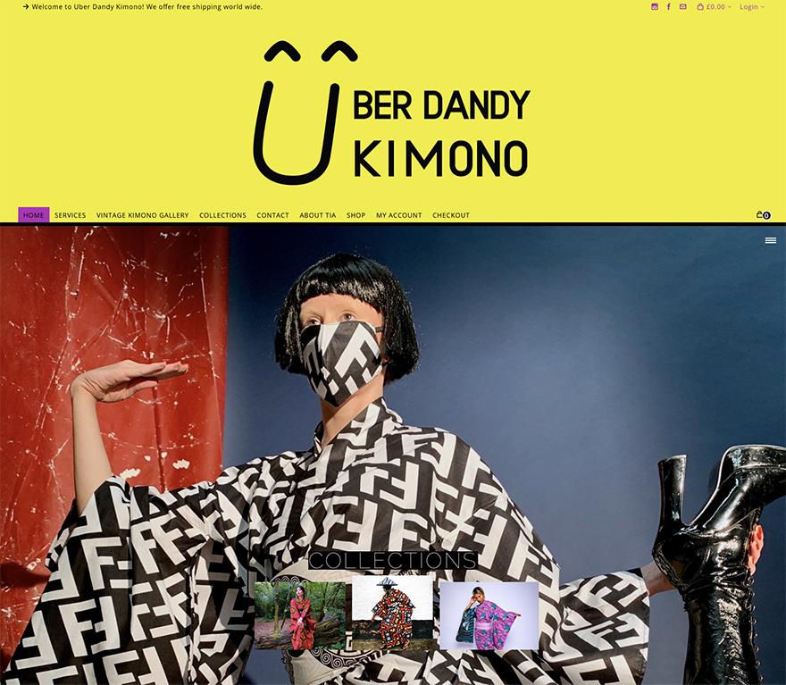 Uber Dandy Kimono website home page
