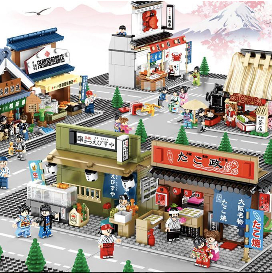 Buildiverse custom Japanese Lego town