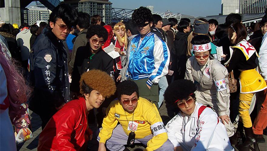 Members of Japanese motorcycle gang from Japan Bullet
