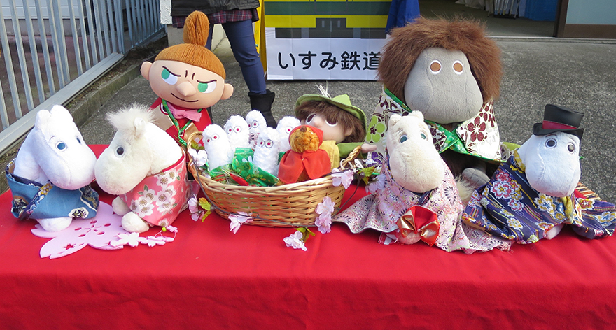 Girls' Day doll set with Moomin figures
