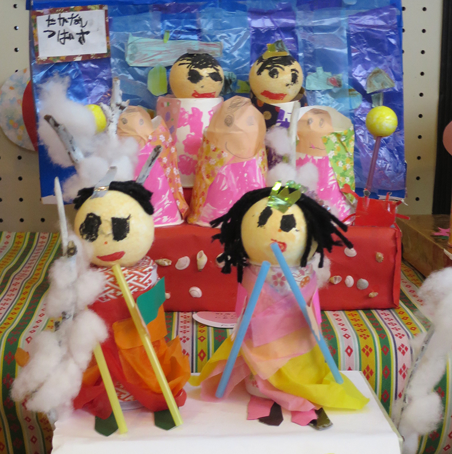 Girls' Day doll set made from paper cups