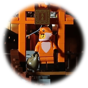 Fox cosplay Lego minifig