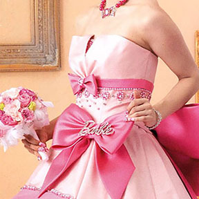 Barbie ball gown for Japanese wedding